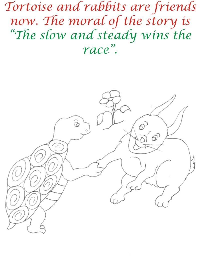 The Racing story coloring page for kids 24