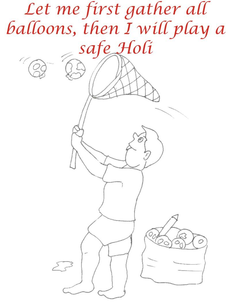 Holi coloring printable pages for kids 15