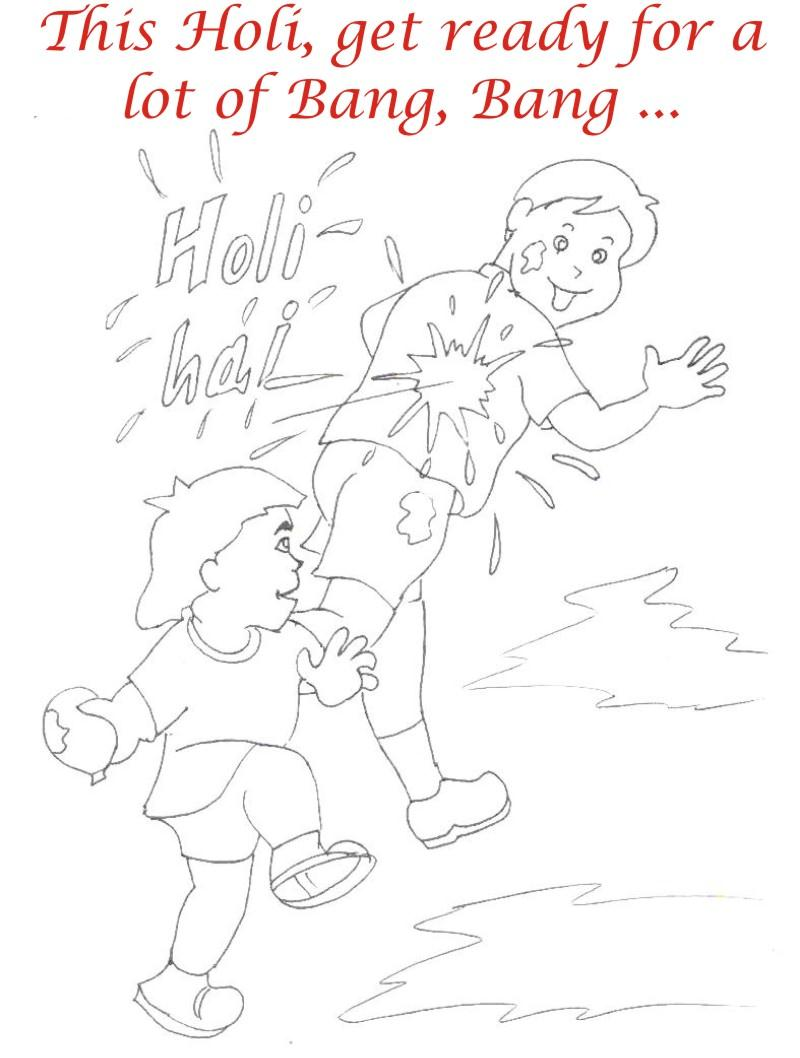 holi coloring printable pages for kids 17