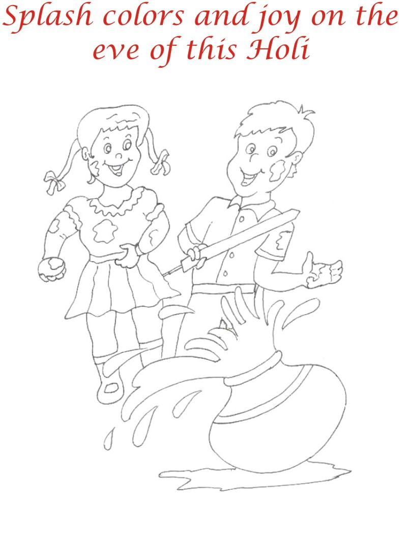 holi coloring printable page for kids 24