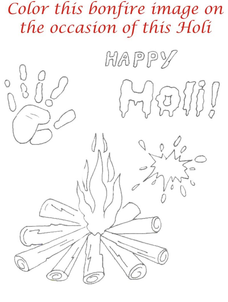 holi coloring printable page for kids 27