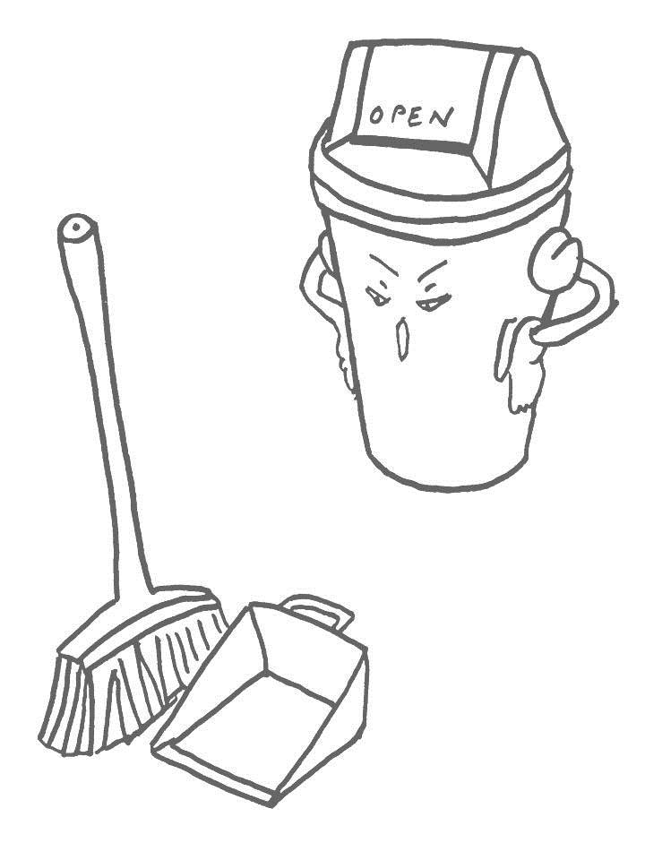 broom coloring pages - photo#17