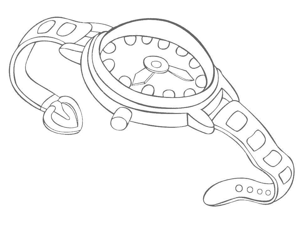 wrist watch coloring pages - photo#3