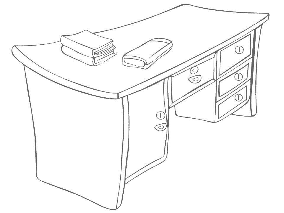 coloring page for kids 15  Table Coloring Page