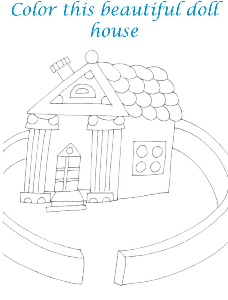 Sweet home coloring printable page for kids 5