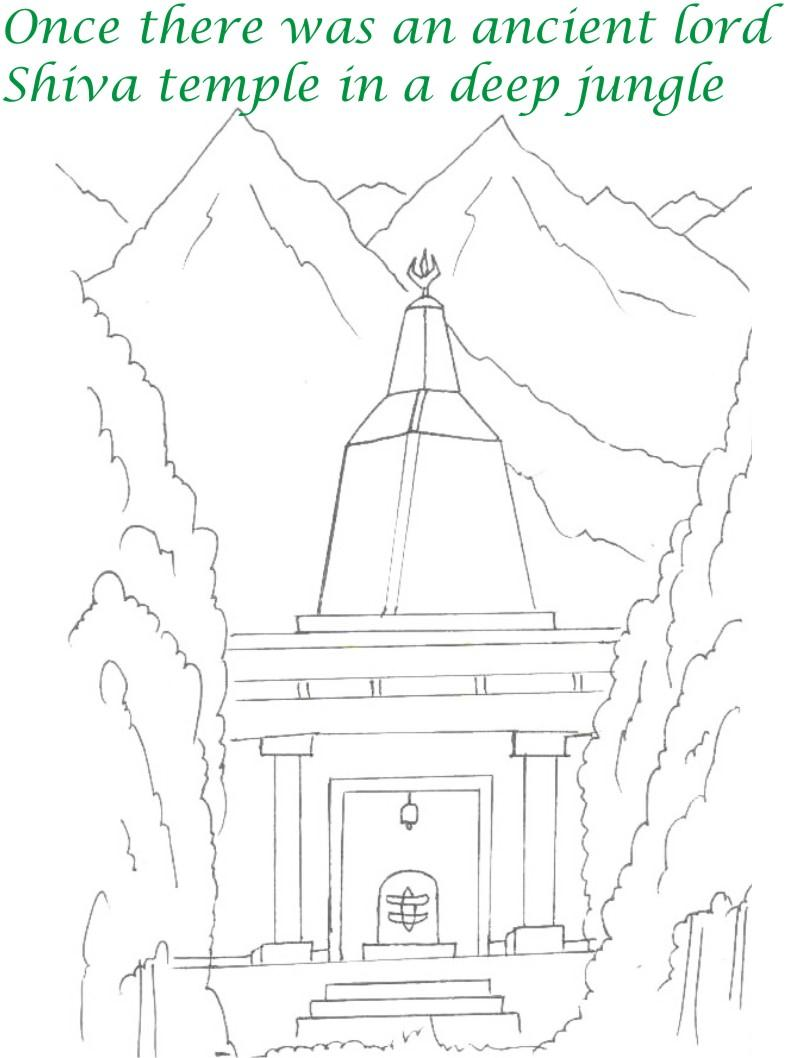 True devotee Story coloring page for kids 1