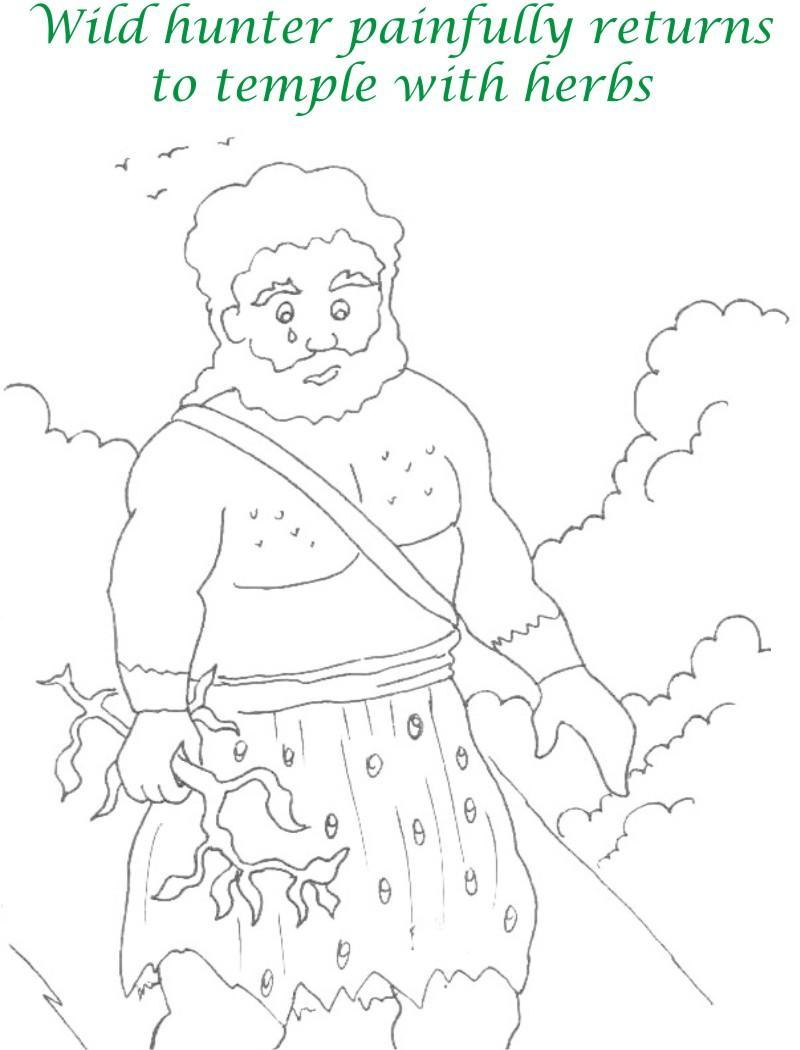 True devotee Story coloring page for kids 29