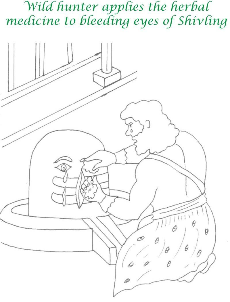 True devotee Story coloring page for kids 31