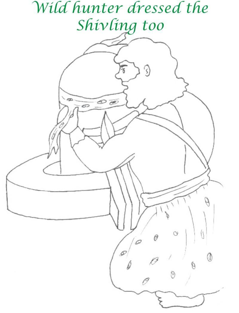 True devotee Story coloring page for kids 32