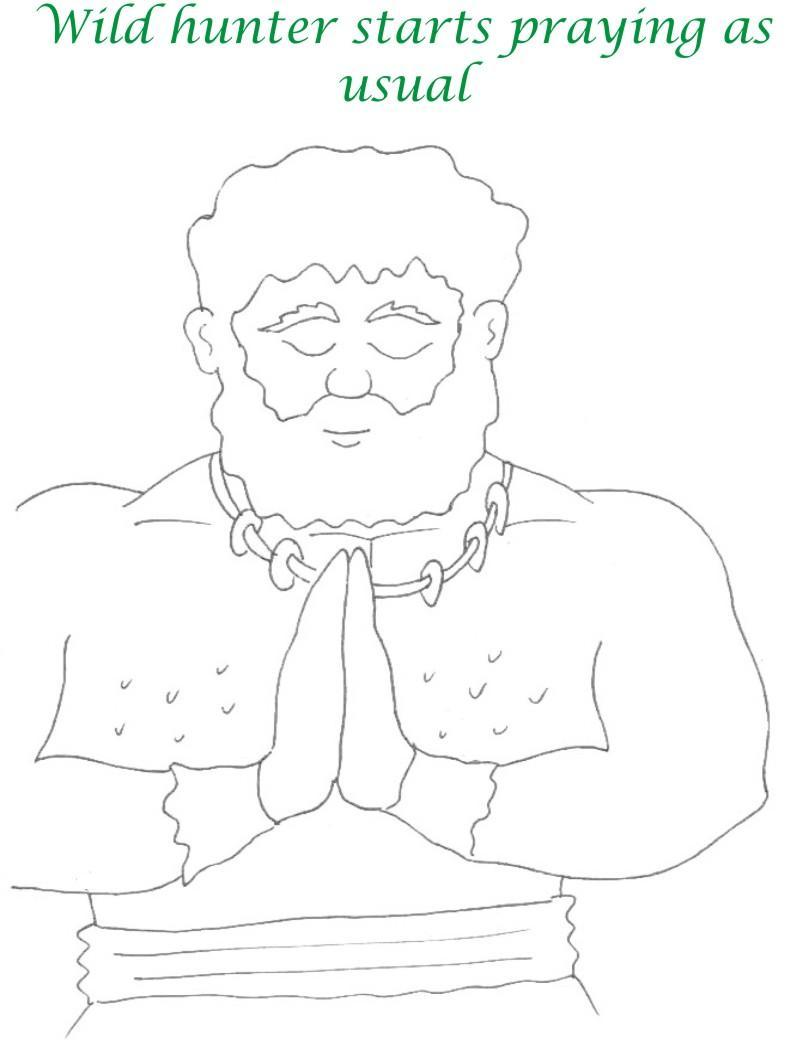 True devotee Story coloring page for kids 33
