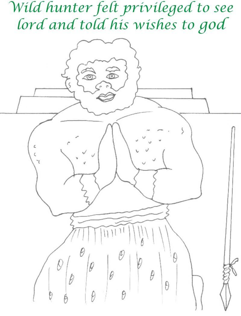 True devotee Story coloring page for kids 35
