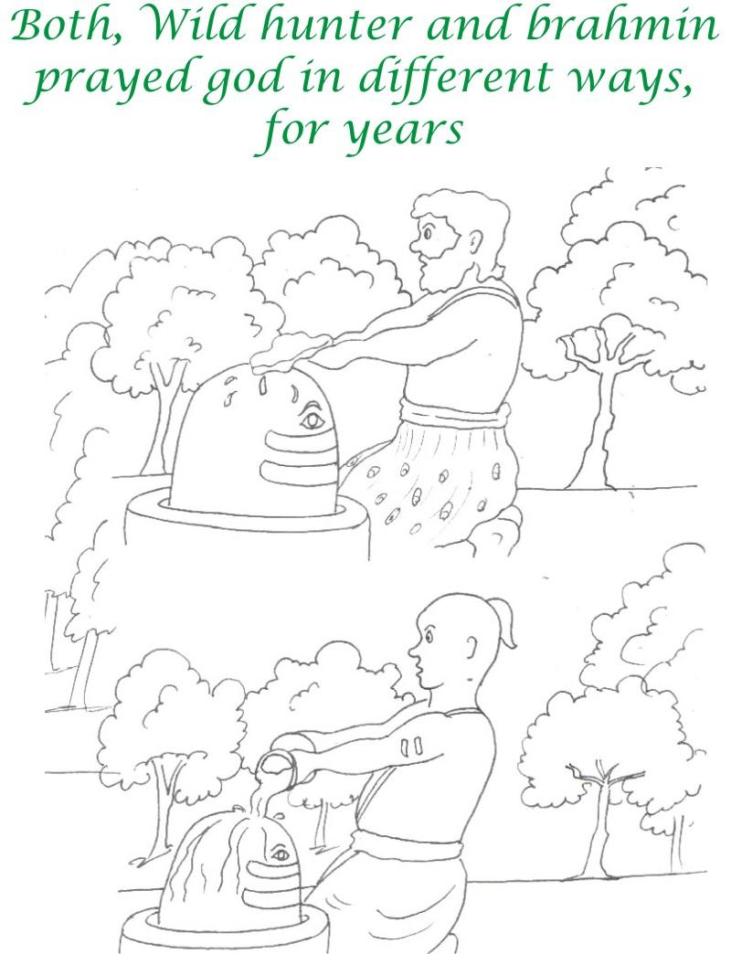 True devotee Story coloring page for kids 14