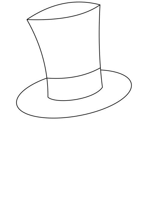 Line Drawing Hat : How to draw a magician in some simple steps