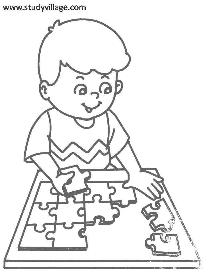 Kids Playtime Coloring Page For Kids 14