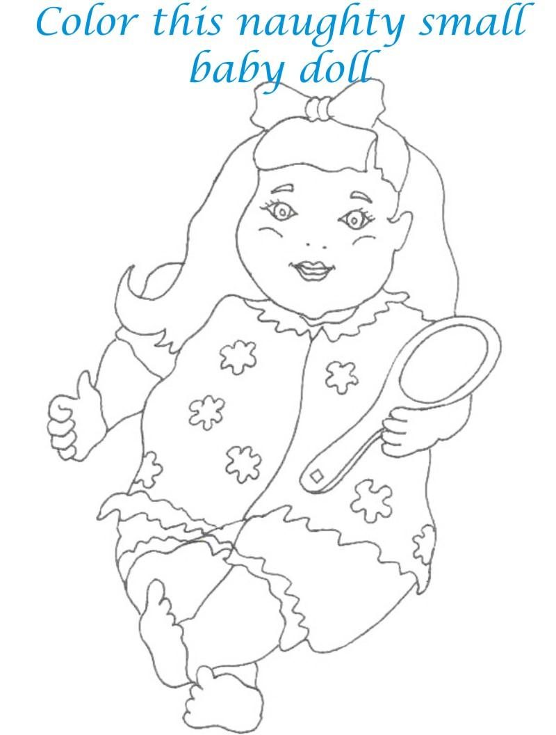 Dolls coloring printable page for kids 9