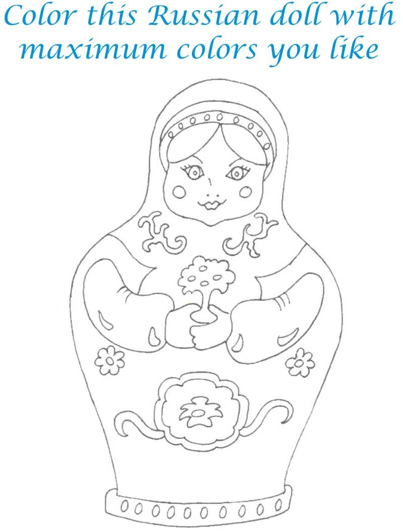 Dolls coloring printable page for kids 11