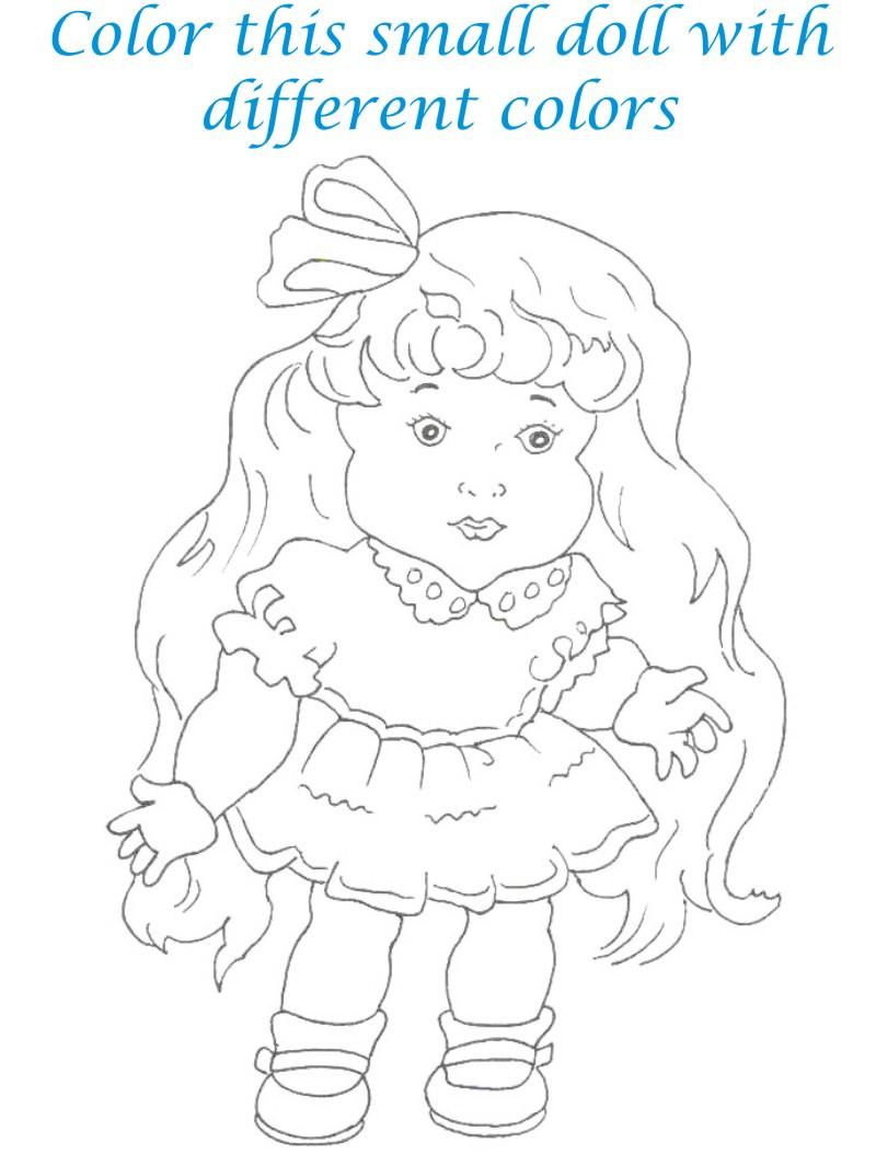 Dolls coloring printable page for kids 12