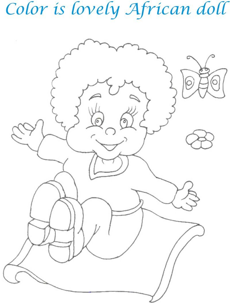 Dolls coloring printable page for kids 23
