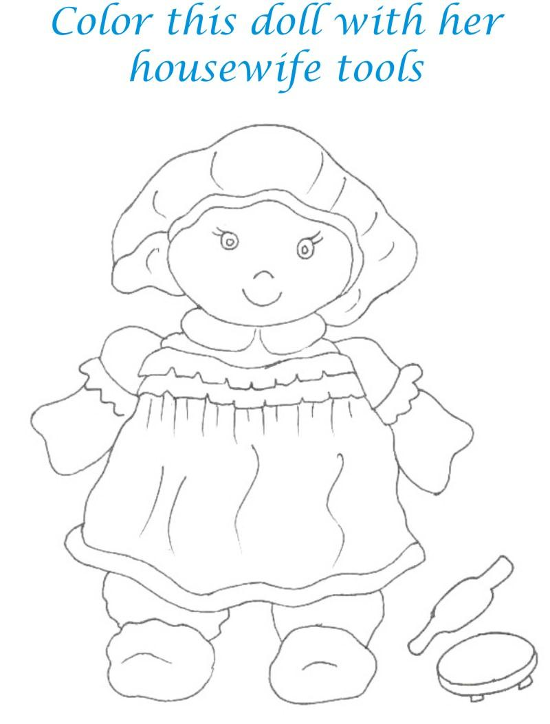 Dolls coloring printable page for kids 25