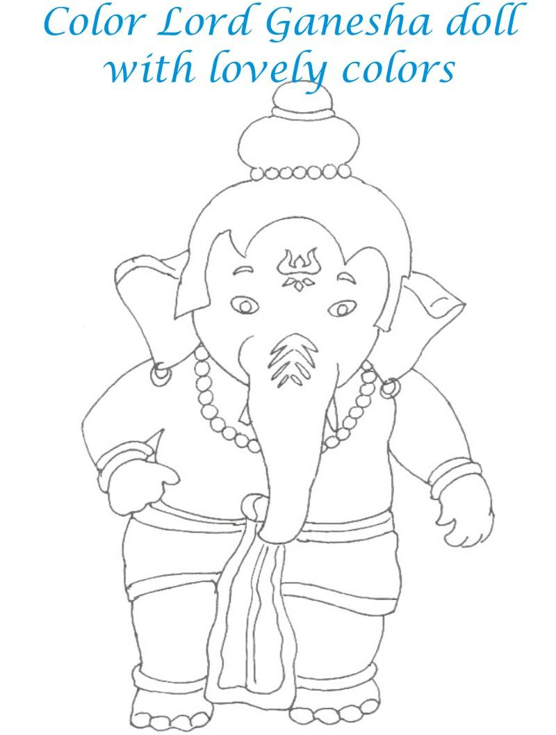 Dolls coloring printable page for kids 28