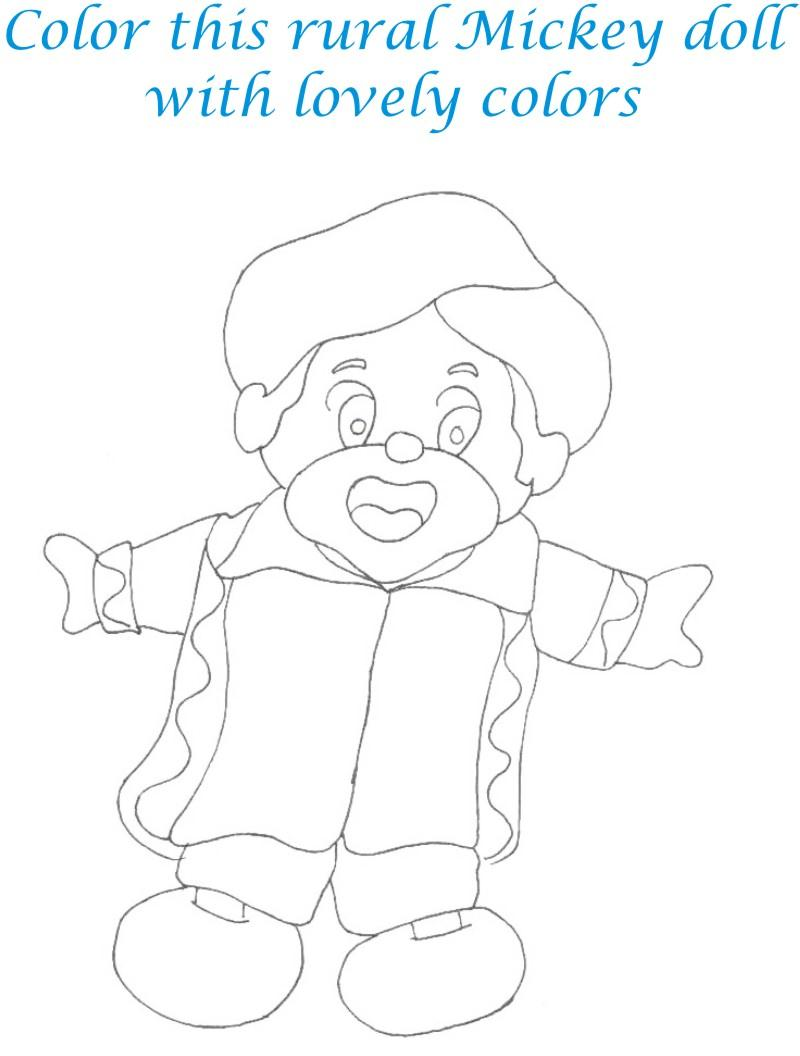 Dolls coloring printable page for kids 30