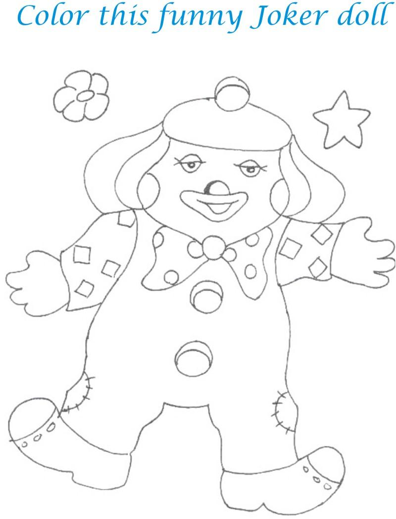 Dolls coloring printable page for kids 16