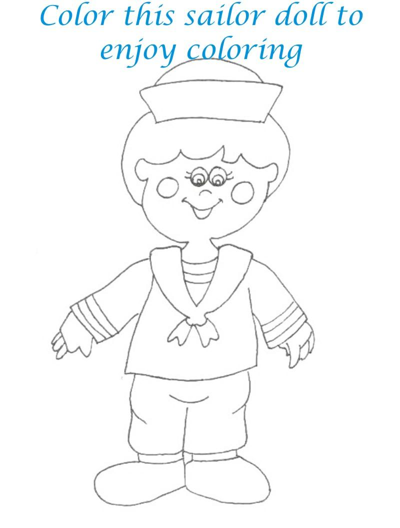 Dolls coloring printable page for kids 31
