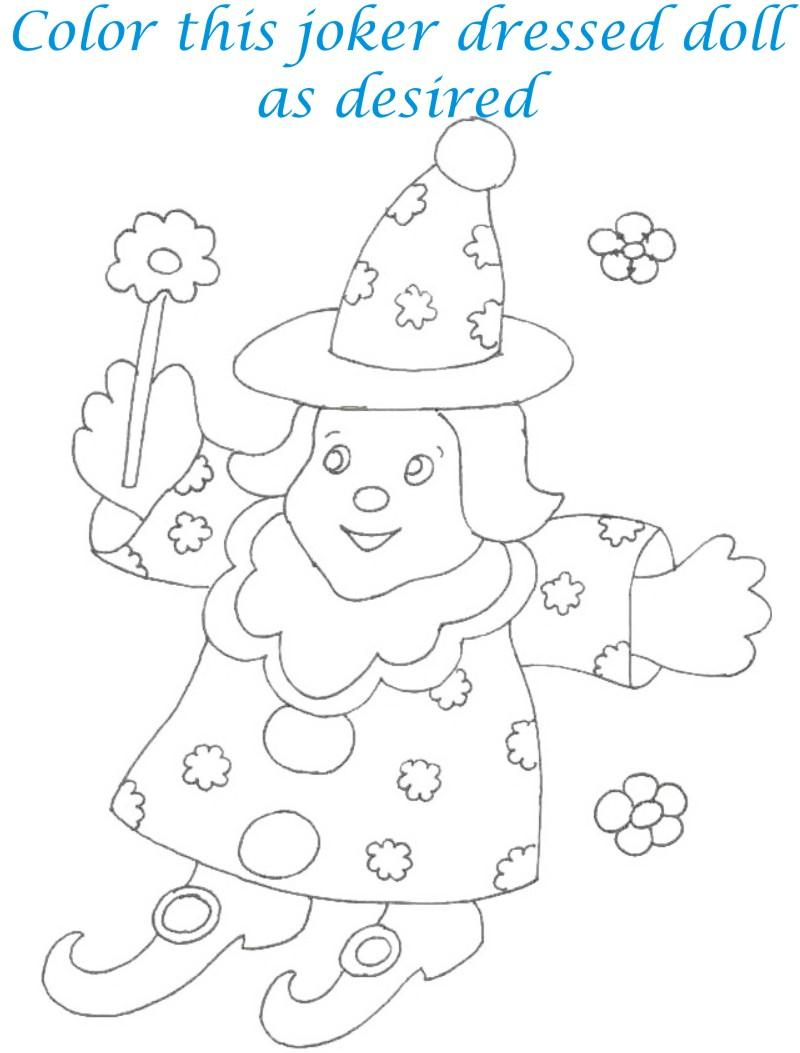Dolls coloring printable page for kids 17