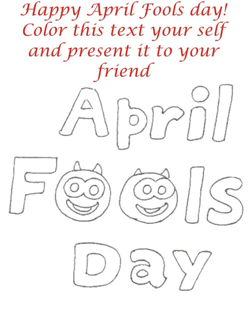 april fool coloring page for kids 1