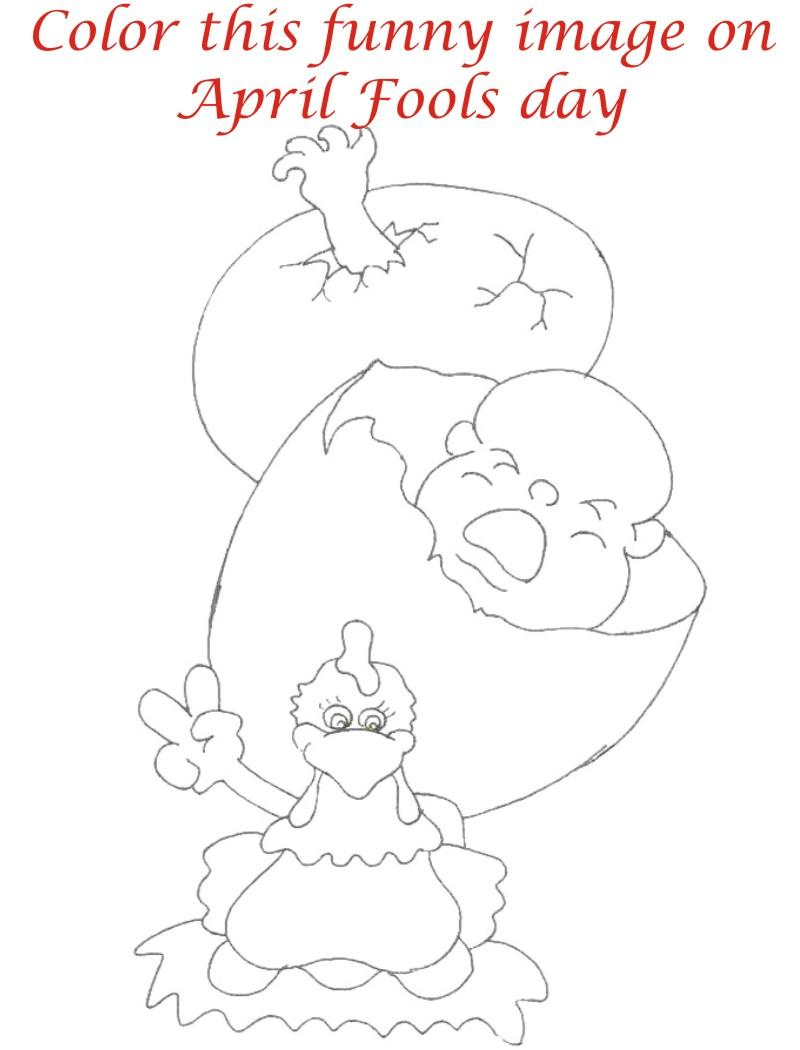 April fool coloring page for kids 10