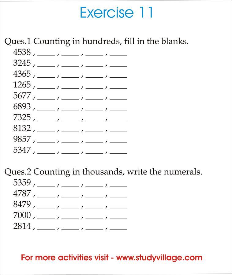Mental Maths Printable Worksheets for kids 11