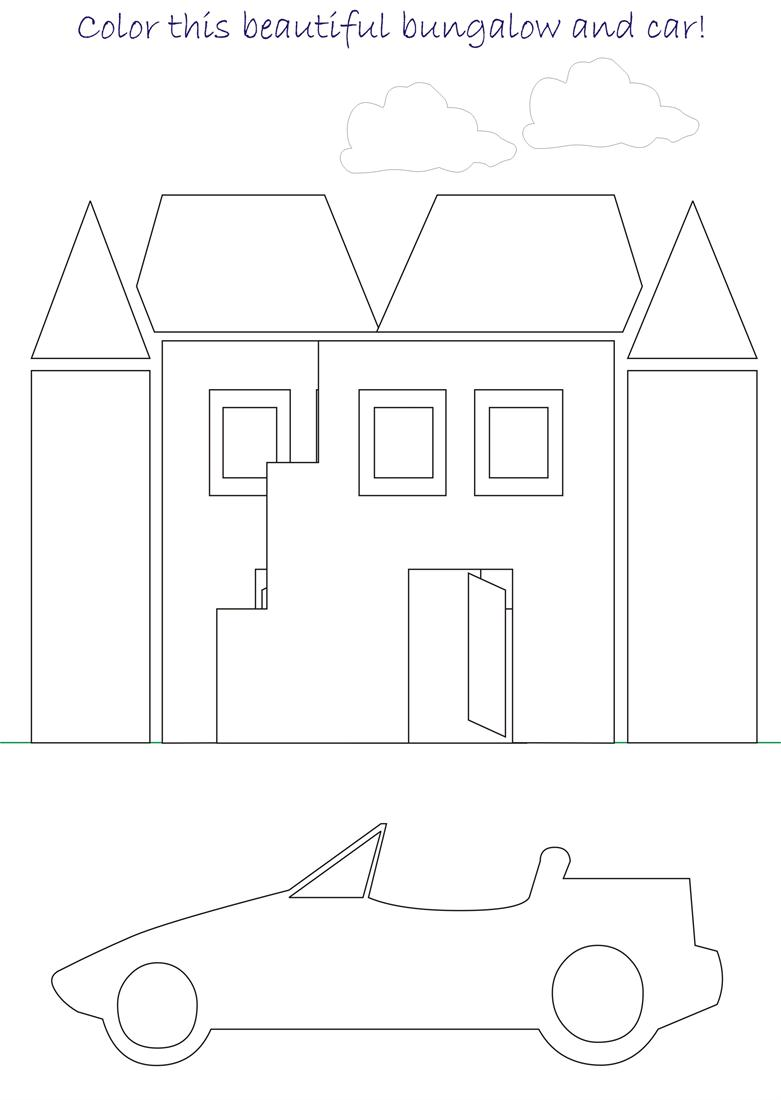 beautiful scenery coloring page for kids 6