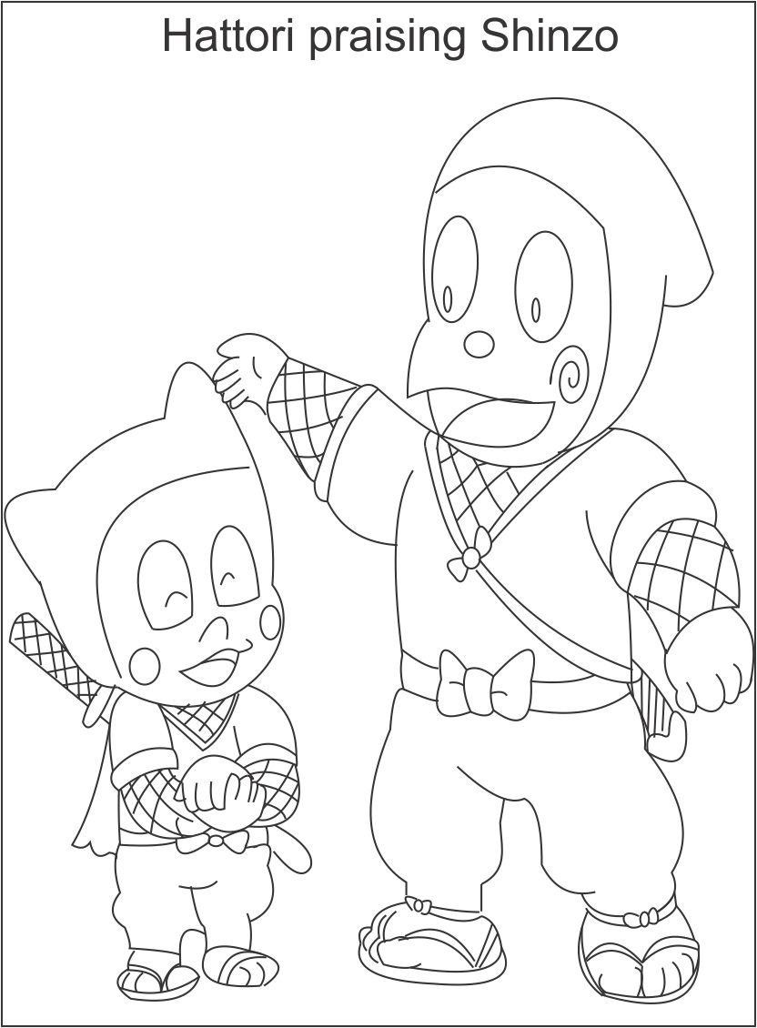 coloring pages ninja hattori