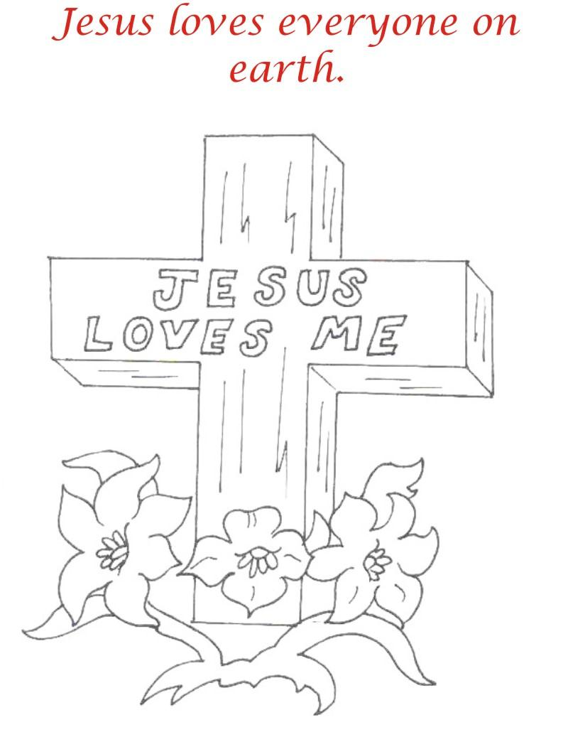 Good Friday coloring printable page for kids 2