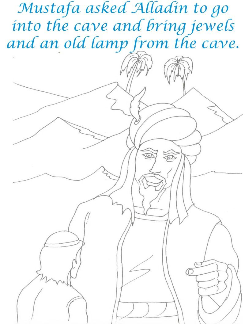 Alladin tales printable coloring page for kids 8