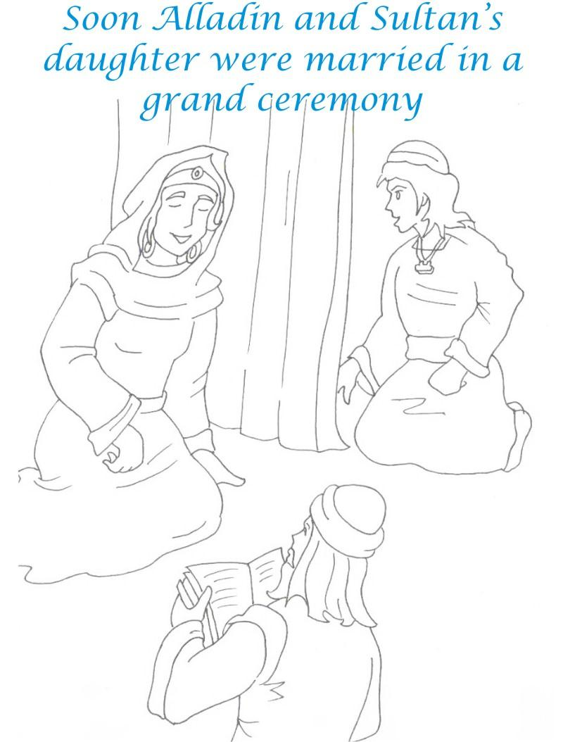 Alladin tales printable coloring page for kids 30