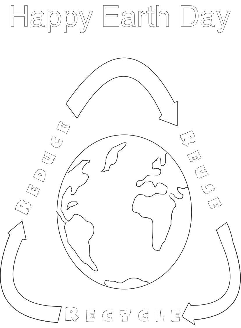 earth day printable coloring page for kids 5