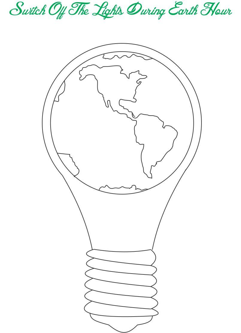 earth day printable coloring page for kids 9