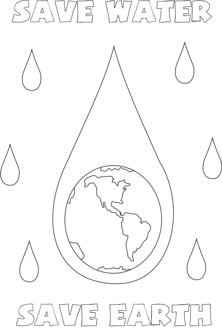 Free Coloring Pages Of Save The Water Water Coloring Page