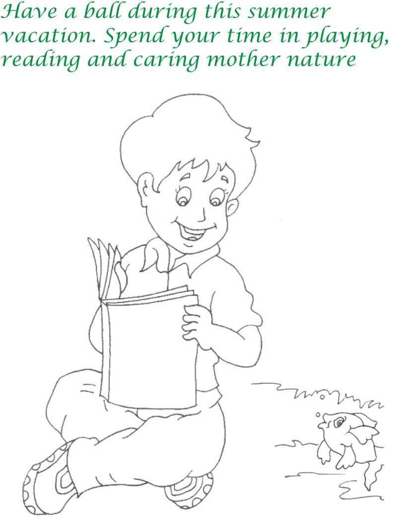 Vacations days printable coloring pages for kids 1