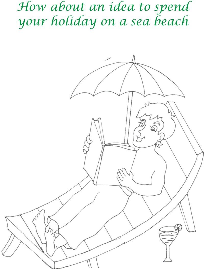 Vacations days printable coloring page for kids 11