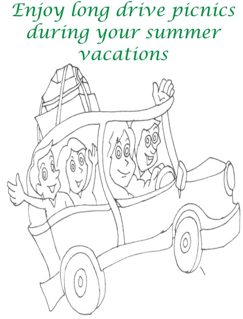 Vacations days printable coloring page for kids 16