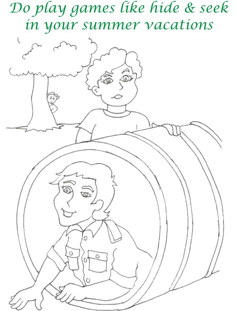 Vacations days printable coloring page for kids 17