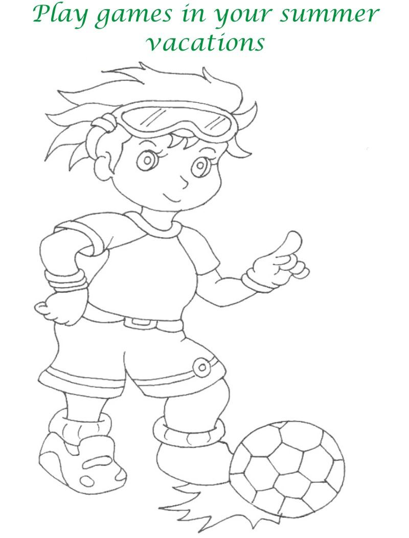 Vacations days printable coloring page for kids 18