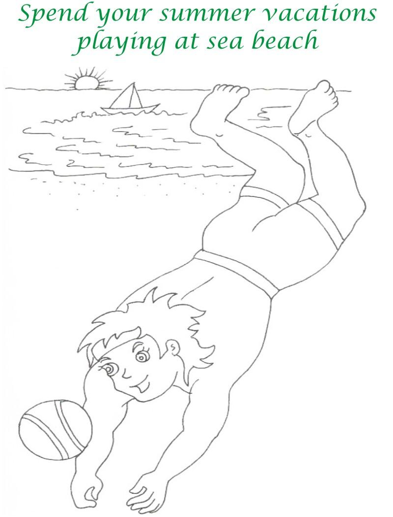 Vacations days printable coloring page for kids 19