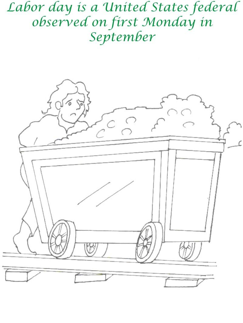 Labor Day printable coloring page for kids 3