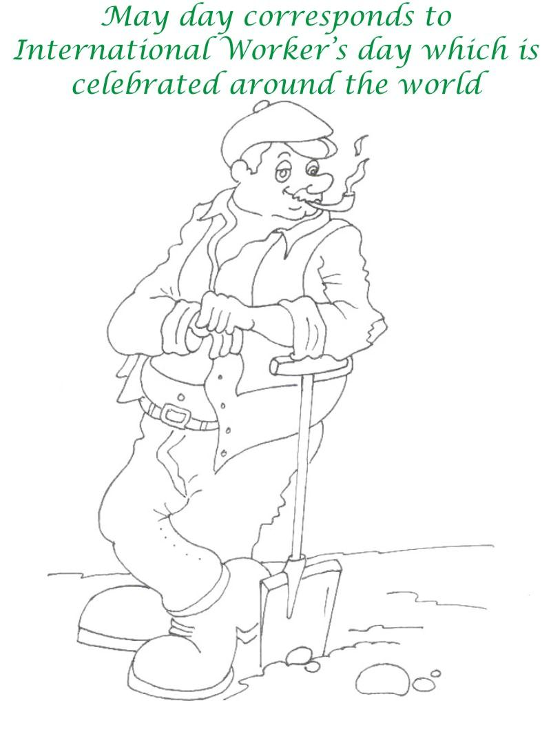Labor Day printable coloring page for kids 4