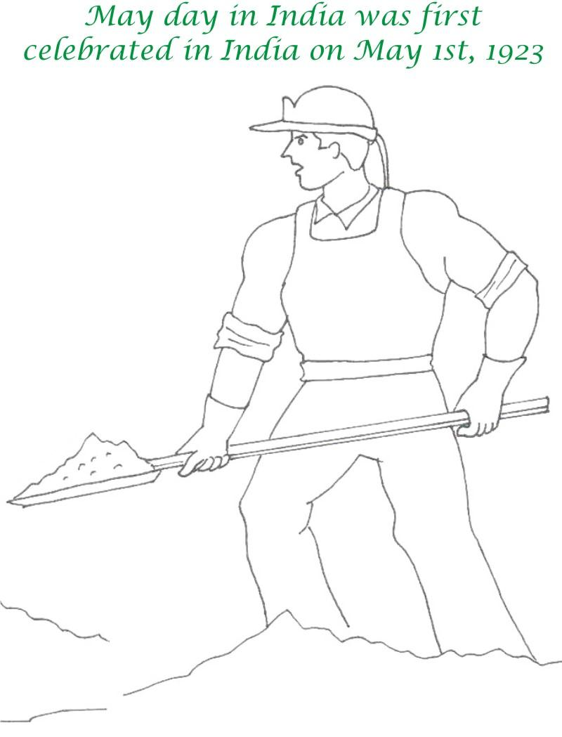 Labor Day printable coloring page for kids 9