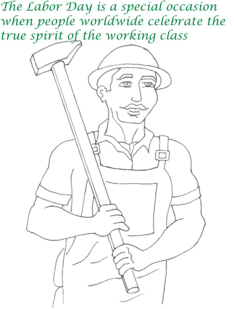 Labor Day printable coloring page for kids 12