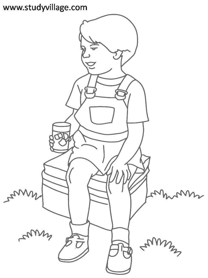 Coloring Pages For Summer Holidays : Summer holidays printable coloring page for kids 8